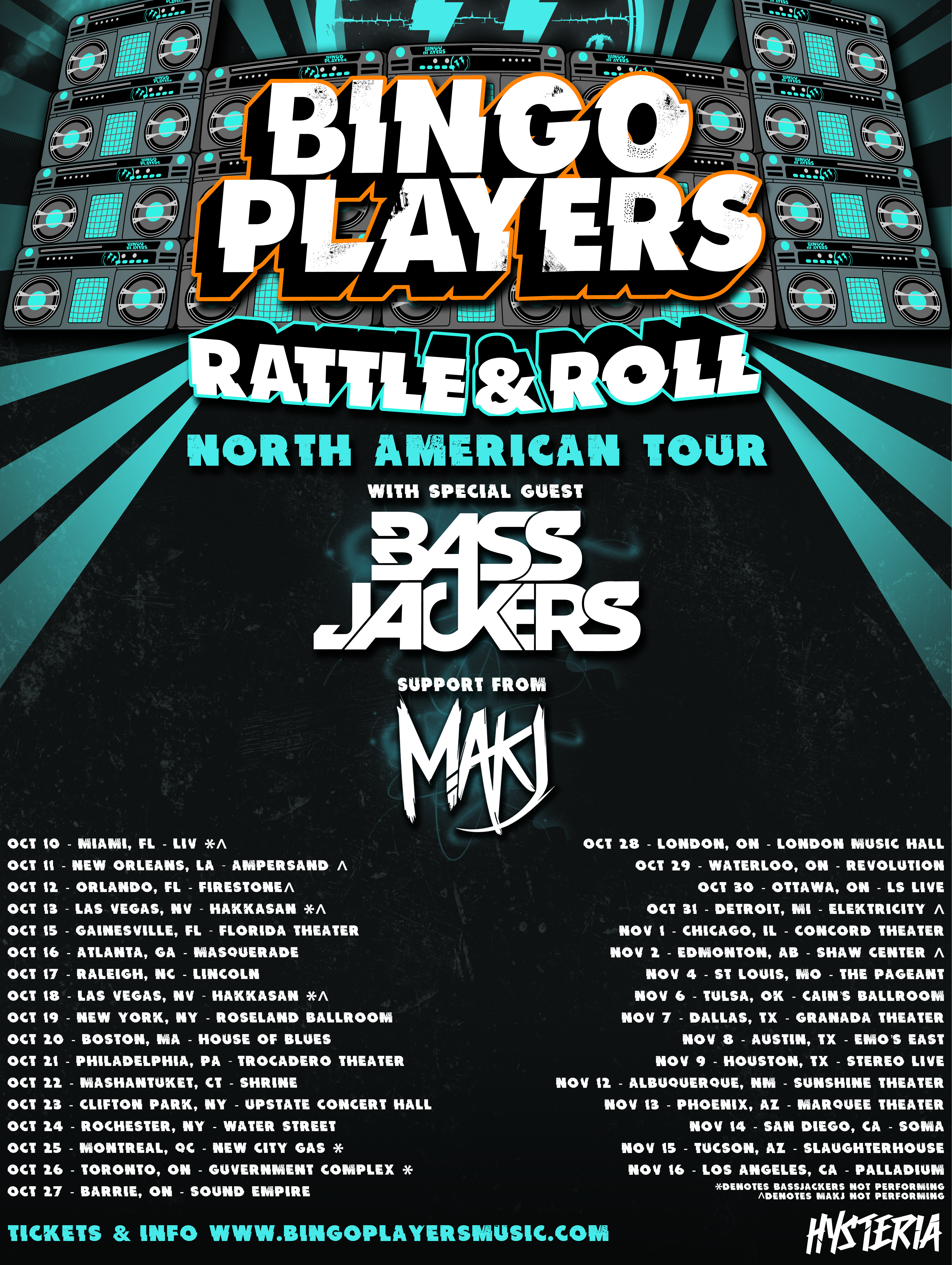 Bingo Players Tour Flyer Artist Trends