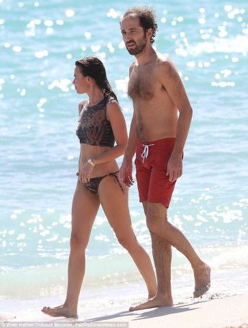 Thomas with his wife in Miami beach
