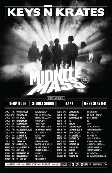 KeysNKrates tour poster