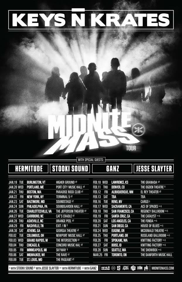 KeysNKrates tour poster